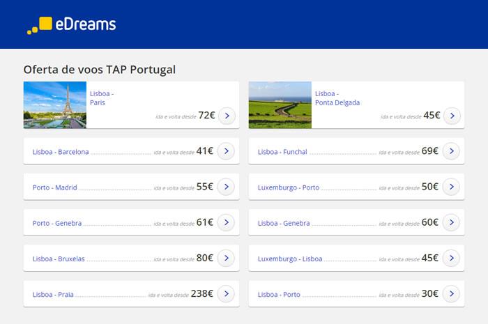 TAP Portugal voos baratos 2